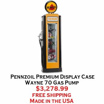Pennzoil Premium Display Case Wayne 70 Gas Pump