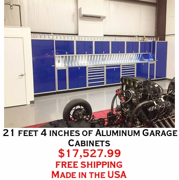 21 feet 4 inches of Aluminum Garage Cabinets