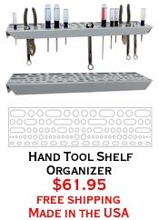Hand Tool Shelf Organizer