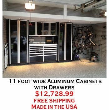 11 foot wide Aluminum Cabinets with Drawers