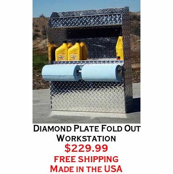 Diamond Plate Fold Out Workstation