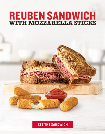 Reuben Sandwich With Mozzarella Sticks SEE THE SANDWICH