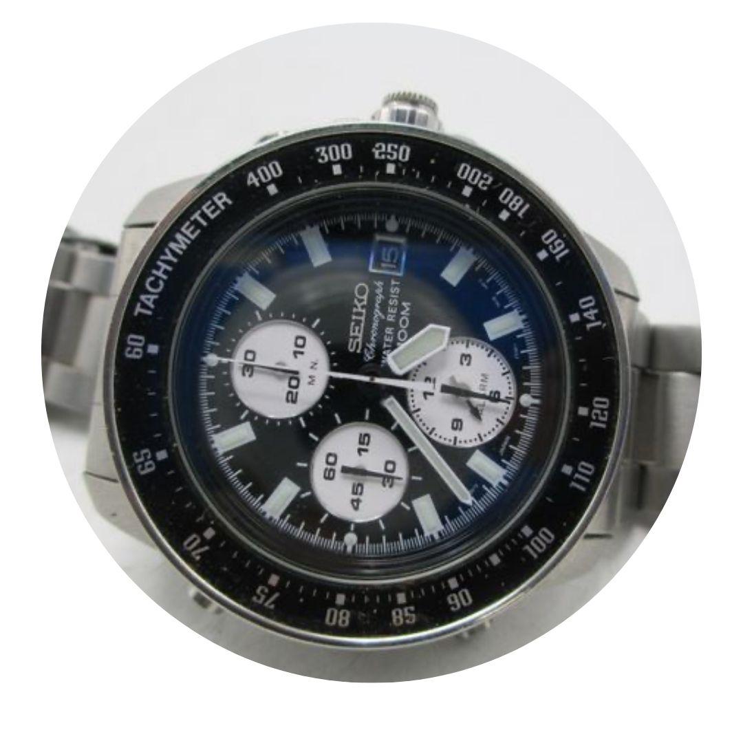 Seiko 7t32 Chronograph Watch