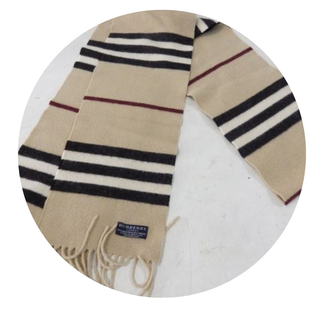 Burberry London Wool Cashmere Blend Scarf