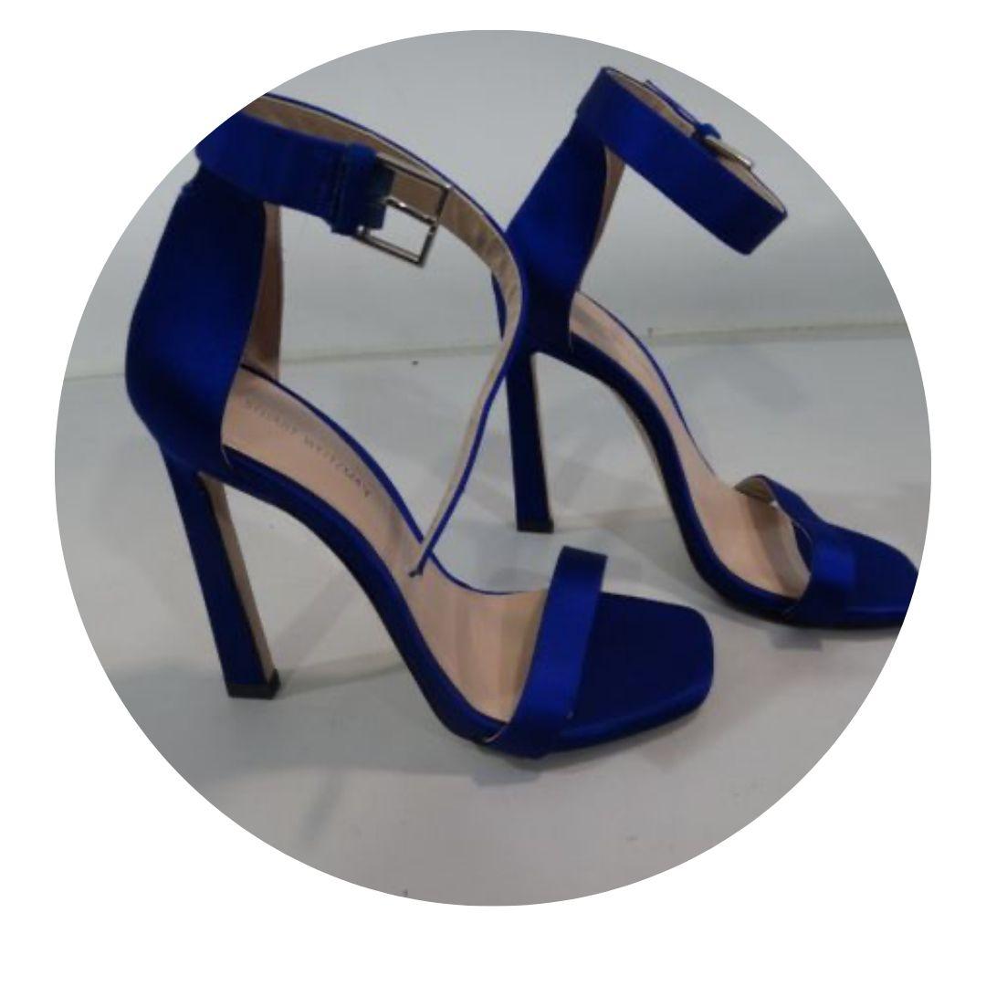 "Stuart Weitzman Blue 4.5"" Heels Shoes Size 6"