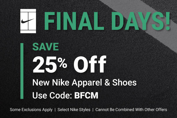 Final Day of Extra 25% Off Nike