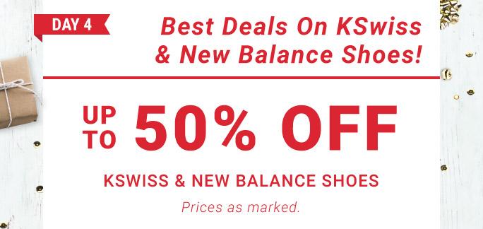12 Days of Deals Day 4 sale Kswiss New Balance