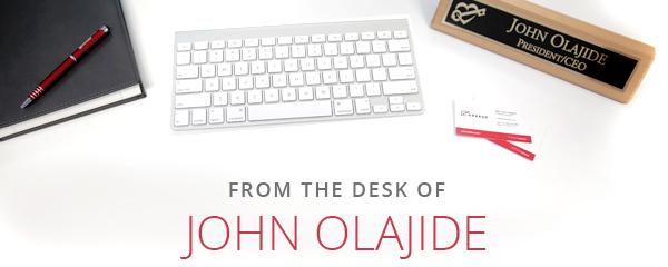 From the desk of John Olajide