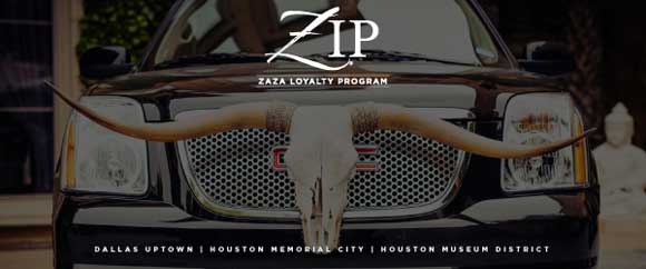 WELCOME TO THE HOTEL ZAZA ZIP LOYALTY PROGRAM! - enable images to see