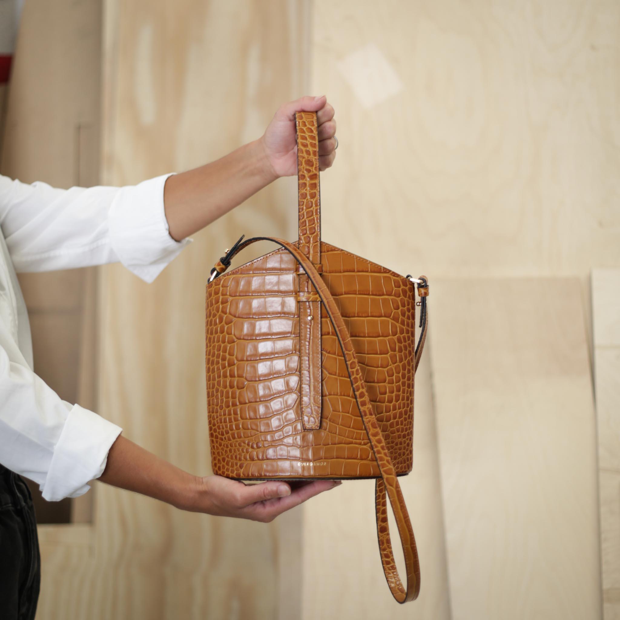 Belt Bag - Camel Croco (ONLY 1)