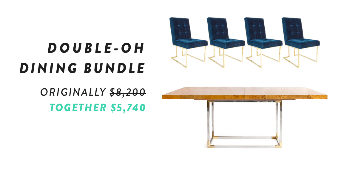 Double-Oh Dining Bundle | Shop Now