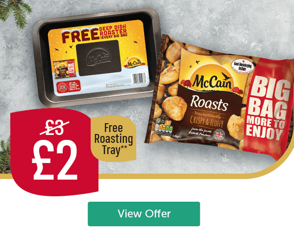Now �Was �Free Roasting Tray** McCain Roast Potatoes free deep dish roaster tray View Offer