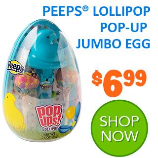 NEW for 2020 - PEEPS LOLLIPOP POP-UP JUMBO EGG