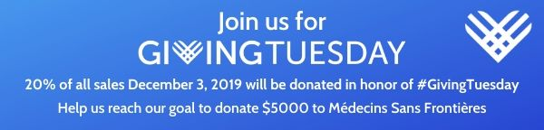 Giving Tuesday - help us reach our goal to donate $5000 to M�decins Sans Fronti�res (Doctors without Borders) today