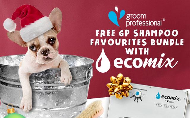 Free Groom Professional Shampoo when you buy GP Ecomix!