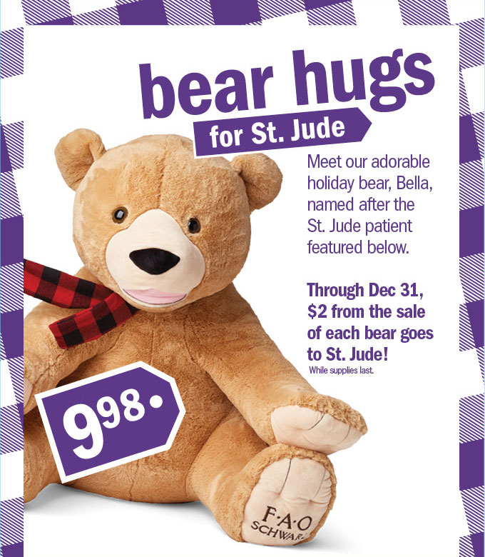 Bear hugs for st. jude
