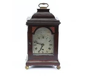 18th/19th century mahogany cased bracket clock, by Herbert Philip, London with single train fusee movement