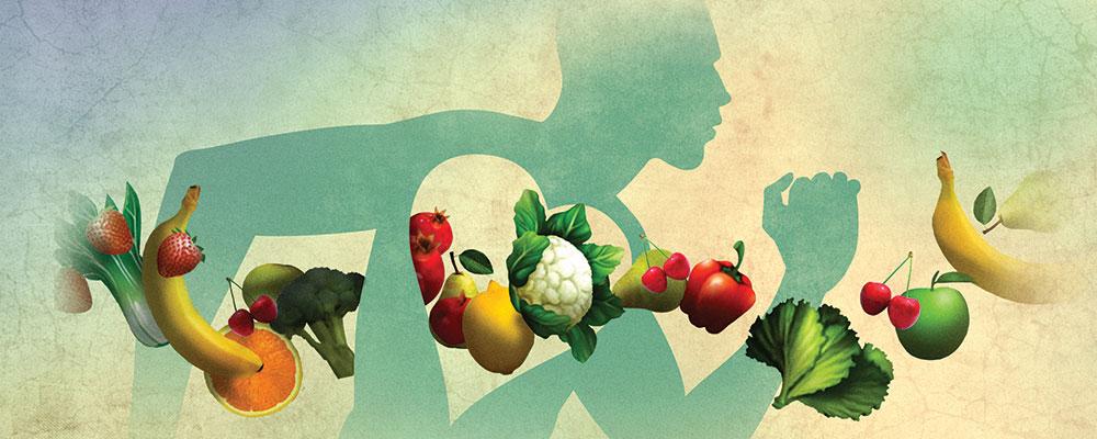 Illustration of veggies