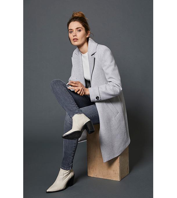 Grey Boyfriend Coat