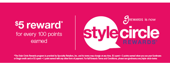 $5 reward* | stylecircle rewards®