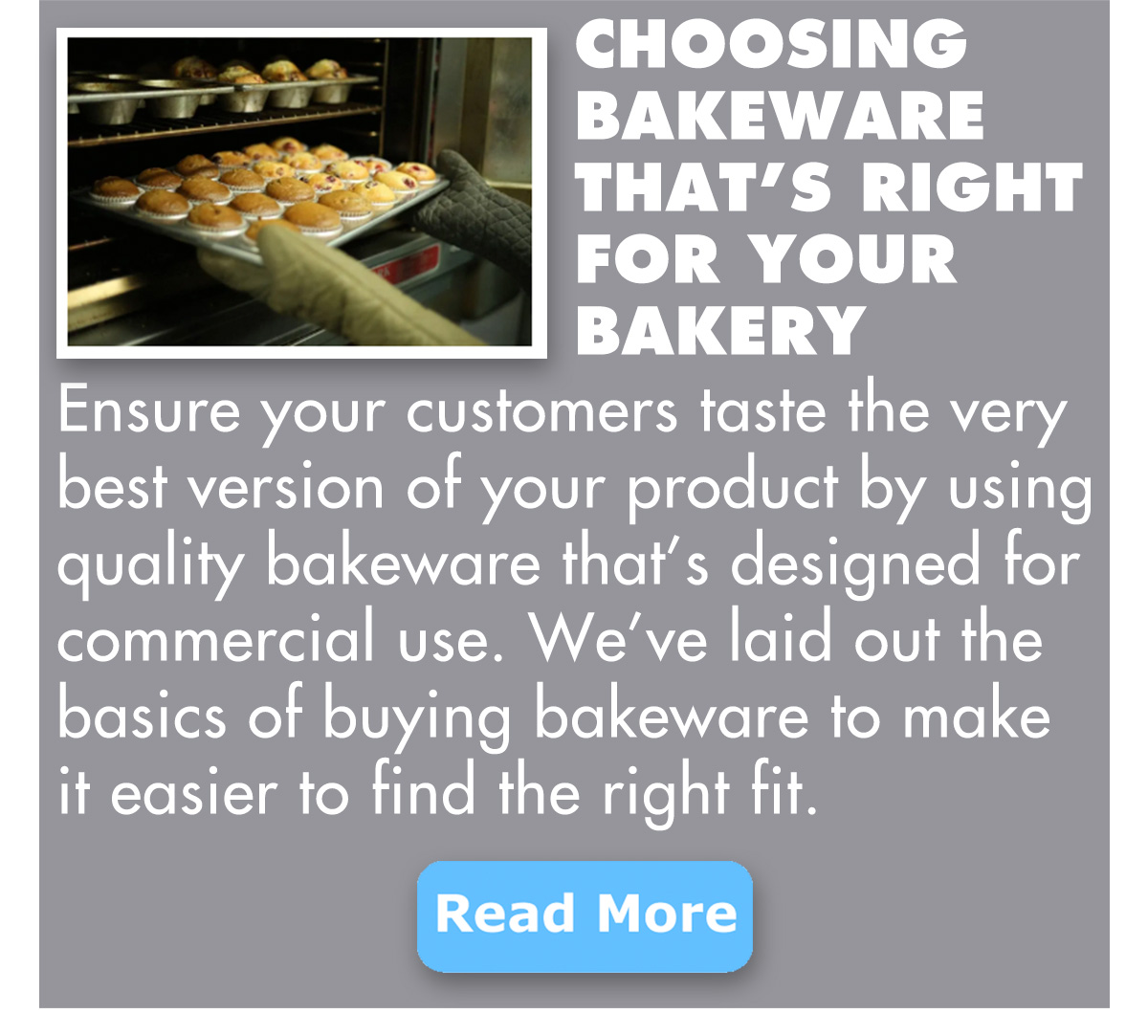 Choosing Bakeware That''s Right For Your Bakery