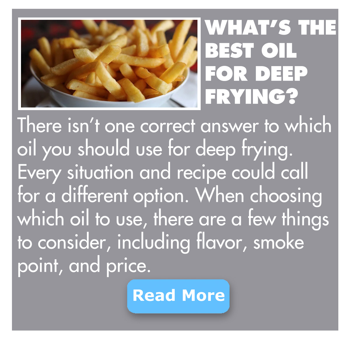 What''s the best oil for deep frying?