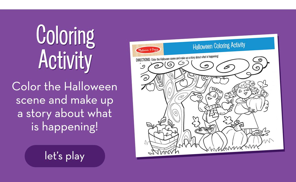 Halloween Coloring Activity