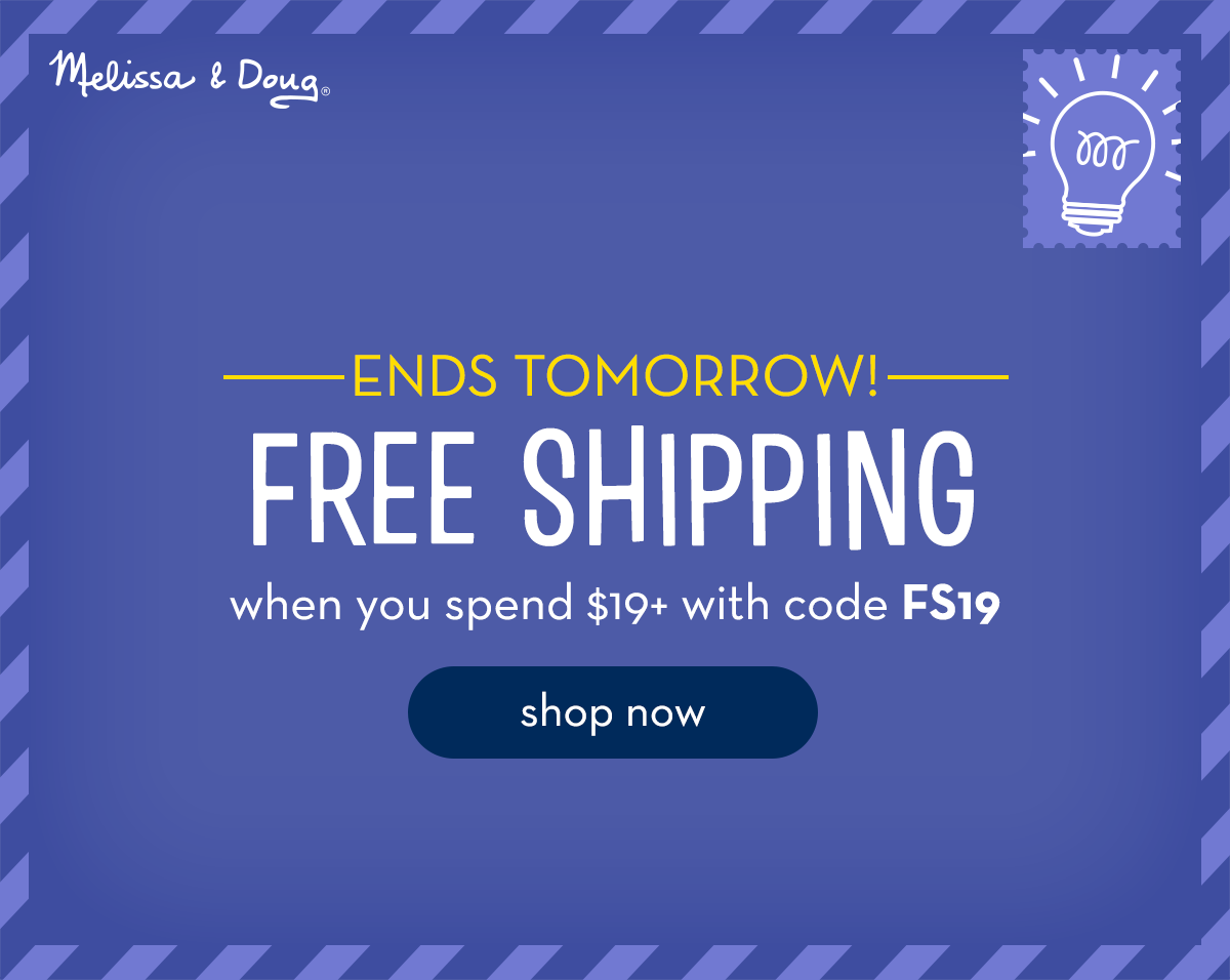 Ends Tomorrow! FREE SHIPPING when you spend $19+ with code FS19. Shop now.