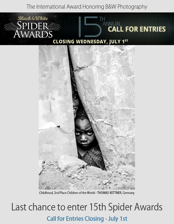 Last chance to enter 15th Spider Awards - Call for Entries Closing July 1st