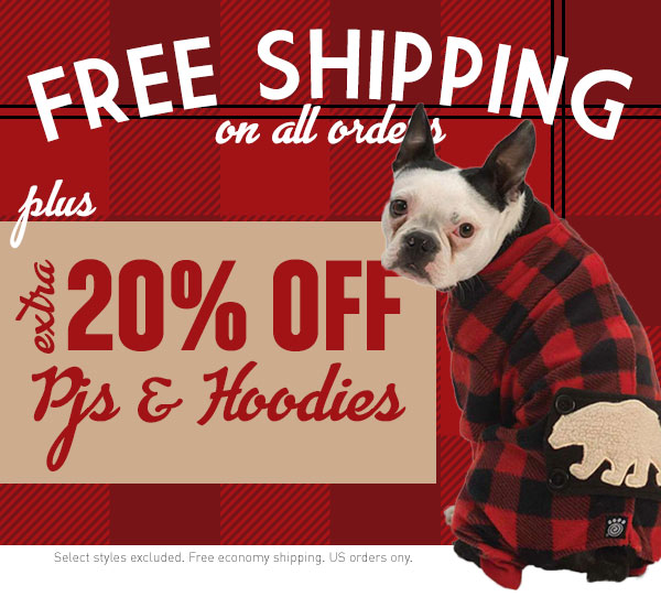 Extra 20% Off PJs & Hoodies + Free Shipping on all orders!