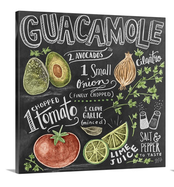Guacamole Handlettering by Lily and Val