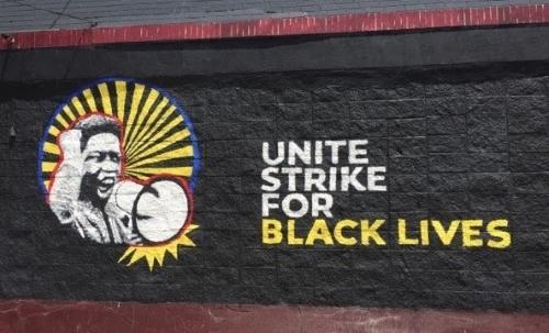Strike for Black Lives mural.