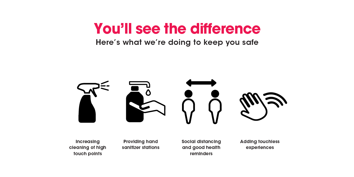 You''ll see the difference. What we are doing to keep you safe.