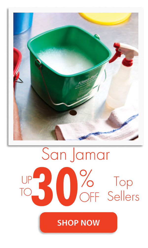 San Jamar Sale - up to 30% off Top Sellers