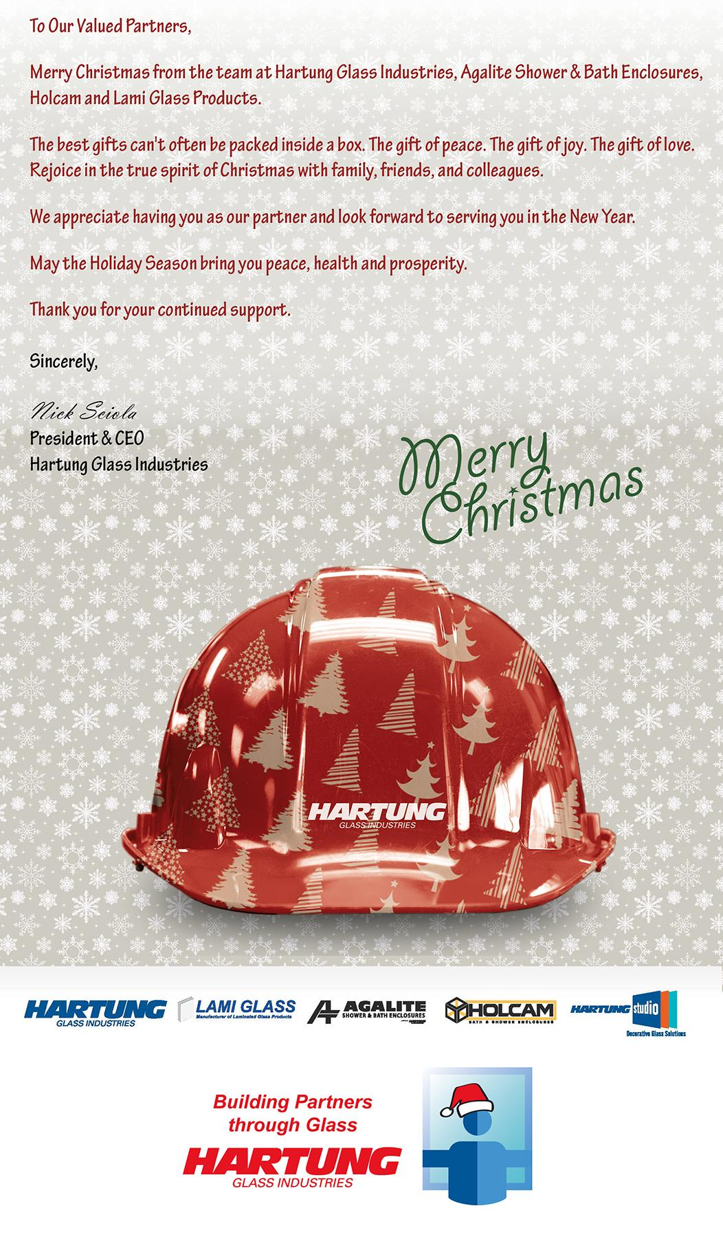 Merry Christmas from Hartung Glass Industries