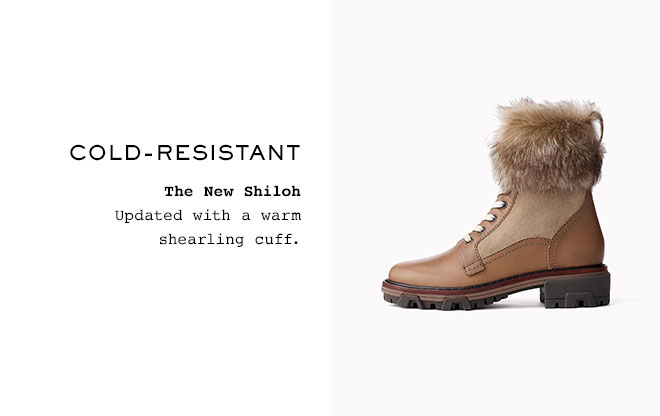 Cold-resistant  The New Shiloh Updated with a warm shearling cuff.