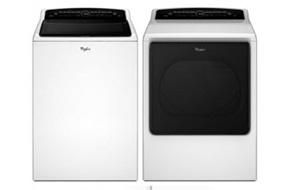 Shop Whirlpool White Cabrio High-Efficiency Top Loading Washer with Electric Dryer