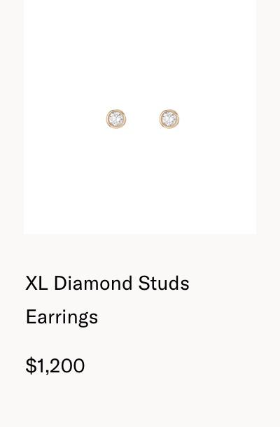 XL Diamond Studs Earrings