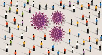 Virus & crowd picture