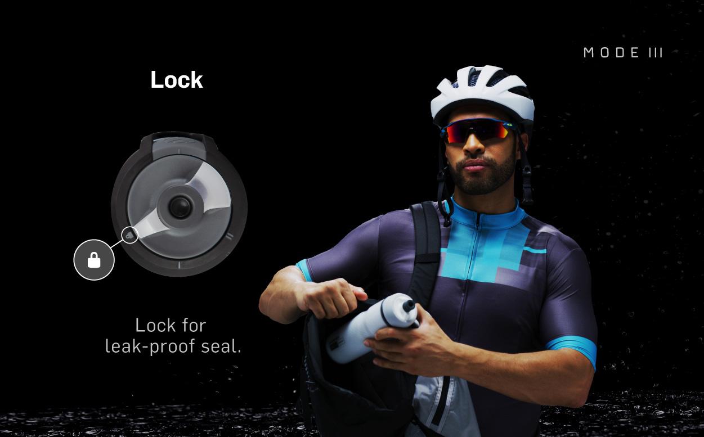Mode 3 - Lock for Leak-Proof Seal