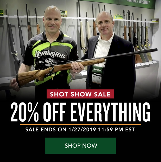 20% OFF Everything - Shot Show Sale