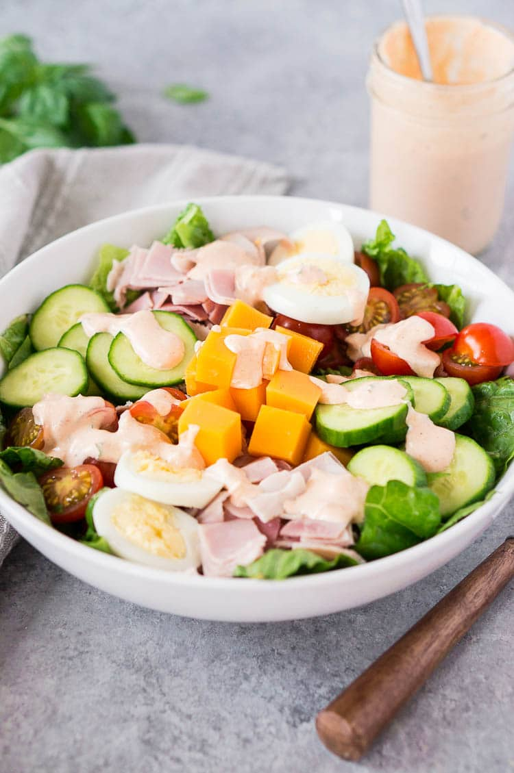 chef salad recipe - in a bowl