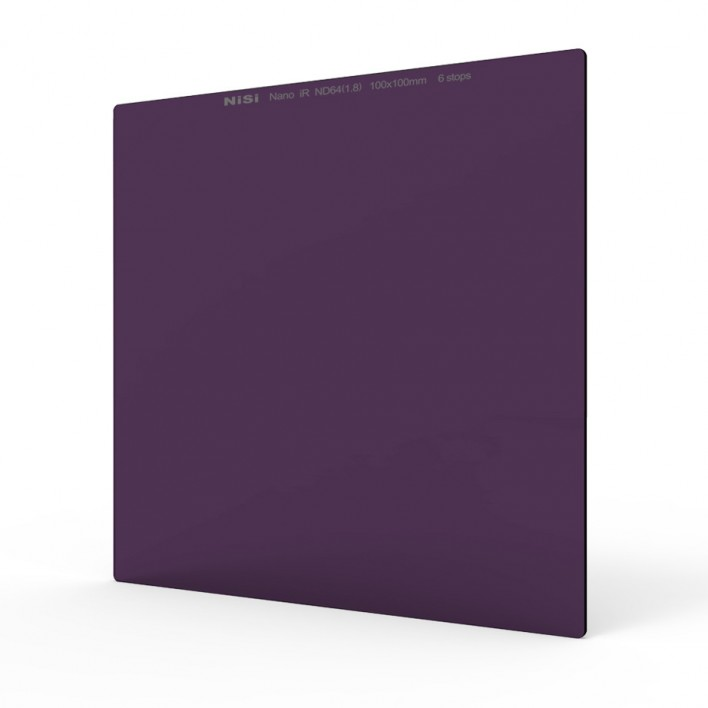 Nisi 100x100mm Nano IR</br> Neutral Density filter - ND64 </br>(1.8) - 6 Stop