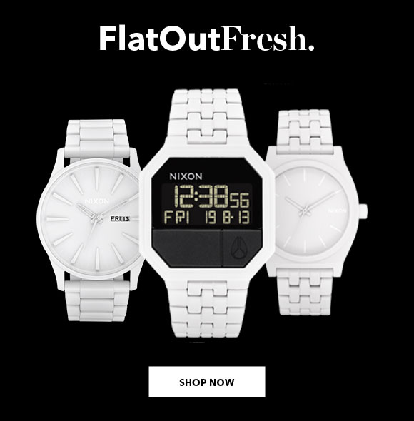 The Flat White Collection by Nixon