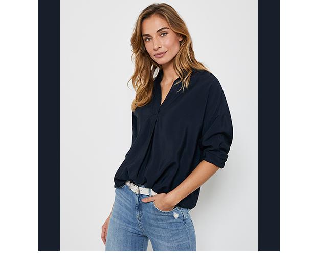 Navy Oversized Shirt