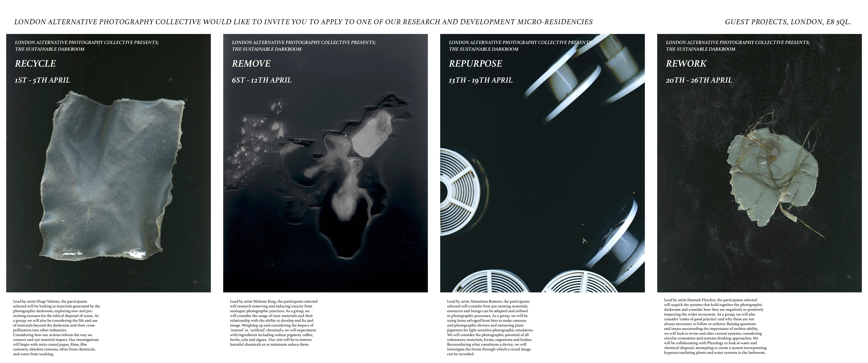 The Sustainable Darkroom: Recycle / Remove / Repurpose / Rework micro-residencies