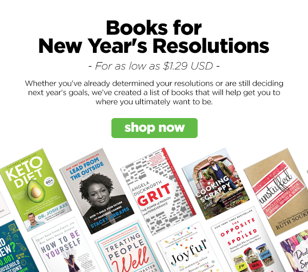 We've got a list of books to help you achieve your New Year's resolutions!