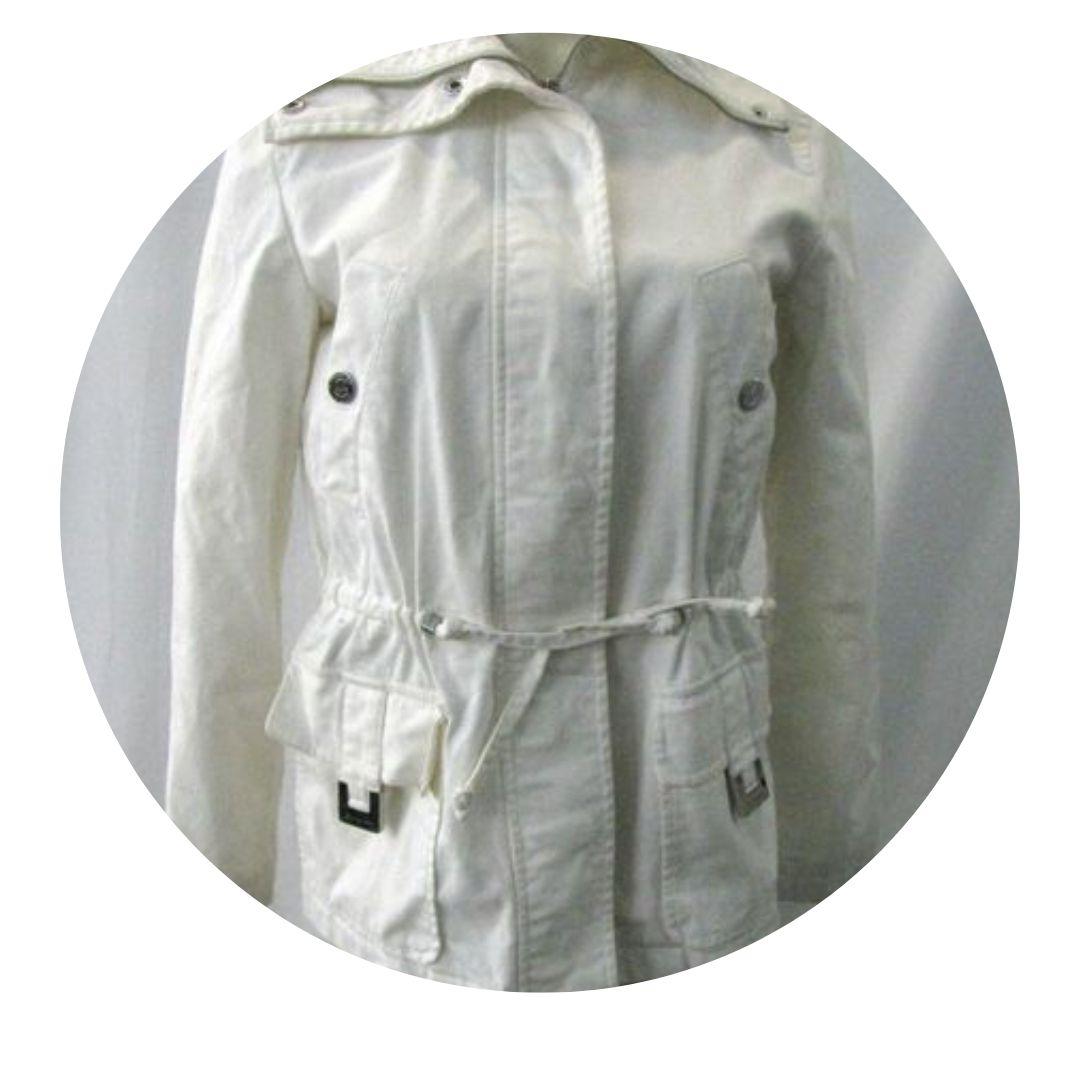 Micheal Kors White Cotton Jacket