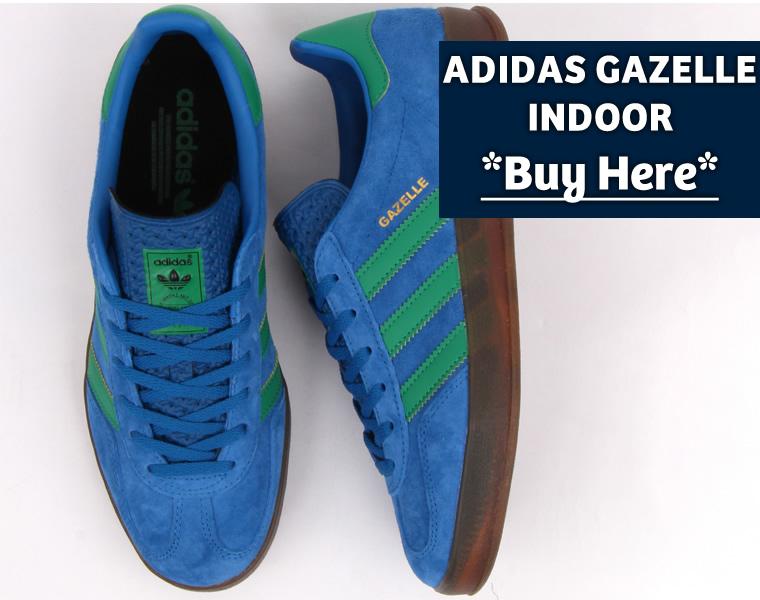 Adidas Gazelle Indoor Blue Green