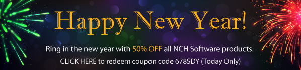 Happy New Year! Save 50% at www.nchsoftware.com/coupons with Coupon Code 678SDY